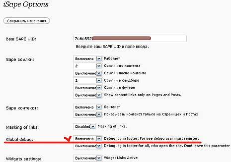 установка кода на блог WordPress